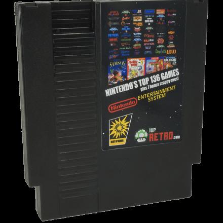 Nintendo 136 in 1 Plus 7 Crappy Games, NES MultiCart, 143 in1 NES Game Cartridge,