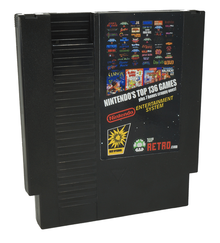 Nintendo 136 in 1 Plus 7 Crappy Games, NES MultiCart, 143 in1 NES Game Cartridge,