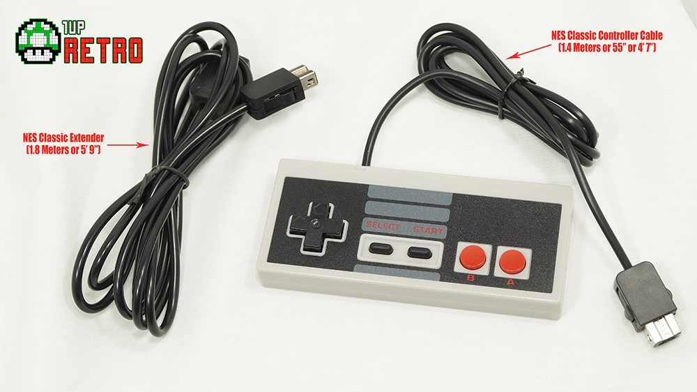 1Up Retro NES Classic Edition Controller and Extension Bundle