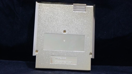 Gold Cart Nintendo World Championships, NWC Gold Cart, NWC 1990 Gold Cartridge, Nintendo World Championships 1990, Nintendo World Championships Gold Cart Back