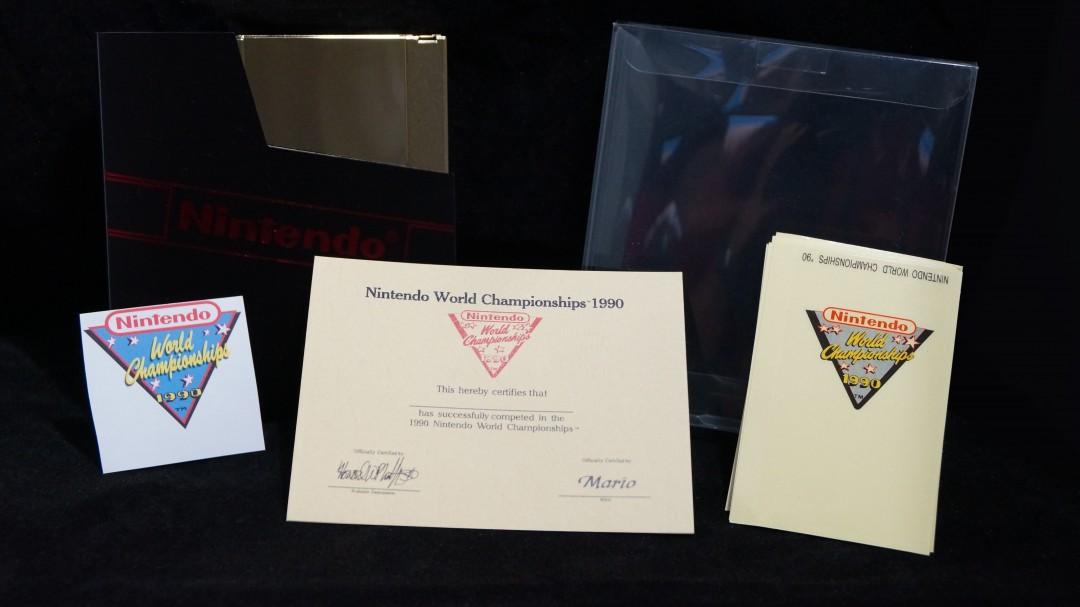 Gold Cart Nintendo World Championships, NWC Gold Cart, NWC 1990 Gold Cartridge, Nintendo World Championships 1990, Nintendo World Championships Gold Cart, Packet