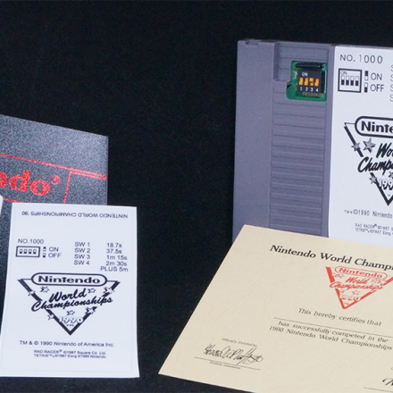 Nintendo world Championship grey cart, NWC Replica Grey Cart, NWC Reproduction Grey Cartridge, Nintendo World Championship Grey Reproduction Cart, 1990 Nintendo World Championship Reproduction Cart