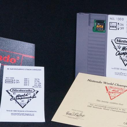 Nintendo world Championship grey cart, NWC Replica Grey Cart, NWC Reproduction Grey Cartridge, Nintendo World Championship Grey Reproduction Cart, 1990 Nintendo World Championship Reproduction Cart