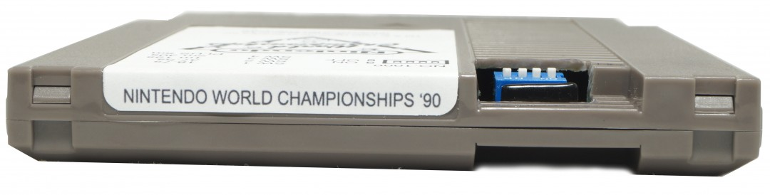Nintendo World Championship Cart Grey Top Label View, Nintendo world Championships cart, Nintendo World Championships Grey Cartridge, Grey Nintendo World Championships