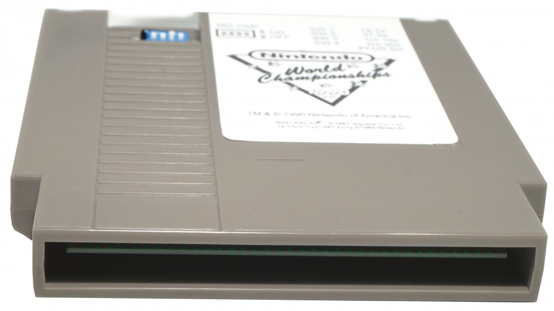 Nintendo World Championship Cart Grey Pin View, Nintendo world Championships cart, Nintendo World Championships Grey Cartridge, Grey Nintendo World Championships