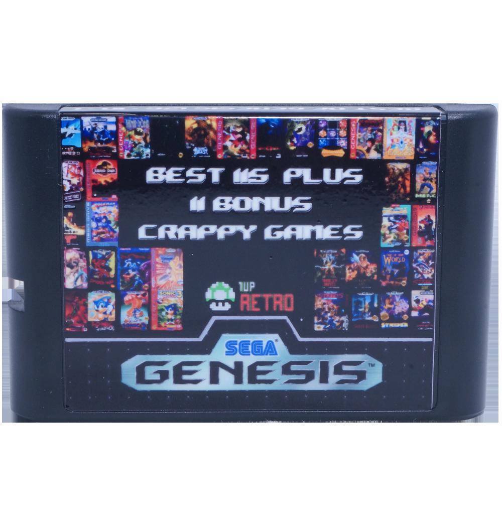 Sega Genesis Multi-cart 126 in 1, Sega Multi-cart, Sega Multi cart, Sega games cart, Sega game multicart