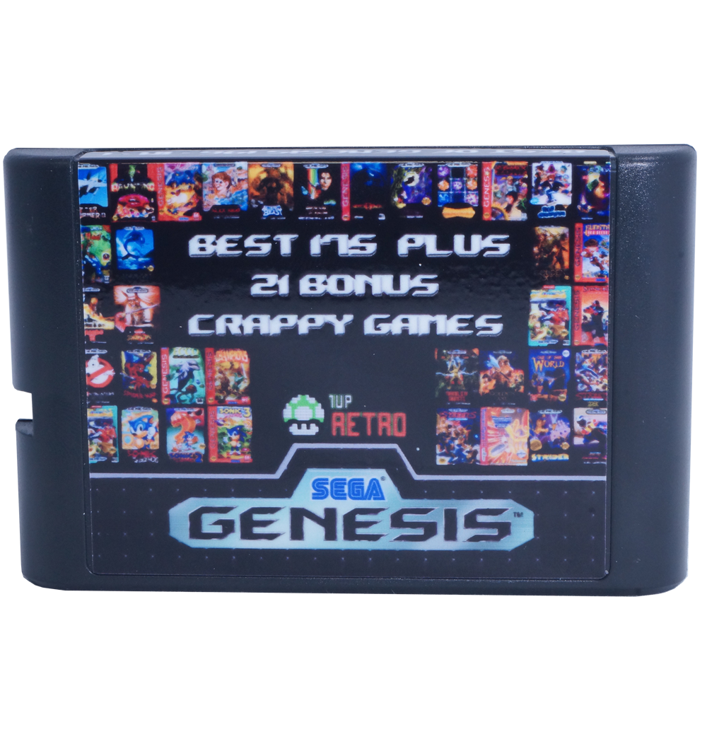 Sega Genesis Multi-cart 196 in 1, Sega Multi-cart, Sega Multi cart, Sega games cart, Sega game multicart