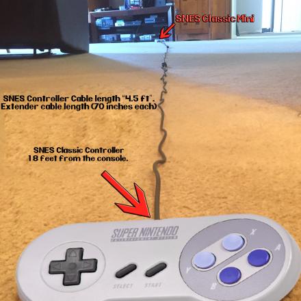 Super Nintendo Classic Mini Controller extension, SNES Classic Mini Controller extension, Controller Extension SNES Classic, Controller Extension SNES Classic, Snes Mini Controller Extension